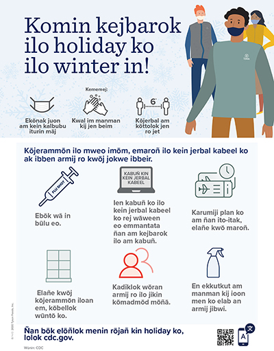 Winter Holiday Safety Poster Marshallese