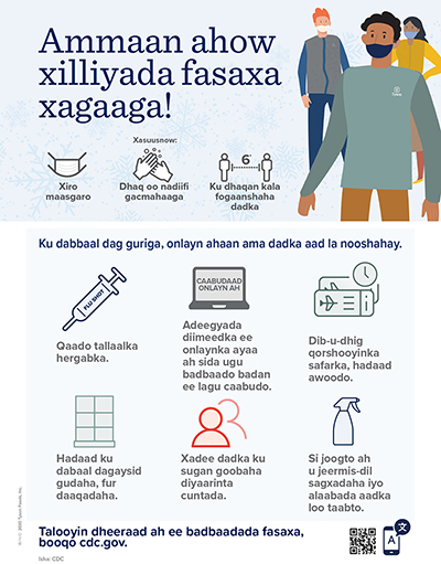 Winter Holiday Safety Poster Somali