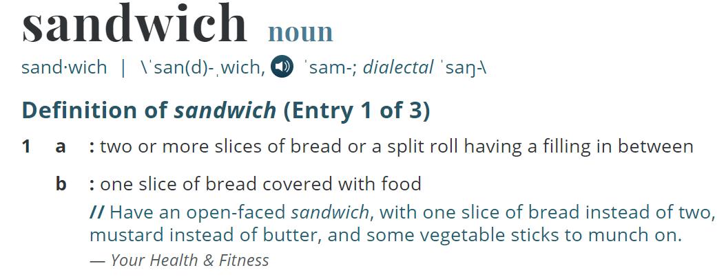Sandwich Definition
