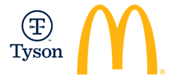 Tyson Foods and McDonalds
